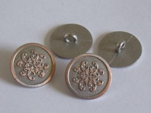6 pièce de métal bouton bouton ösenknopf boutons 18 mm inkakupfer Neuf Inoxydable #222.2#