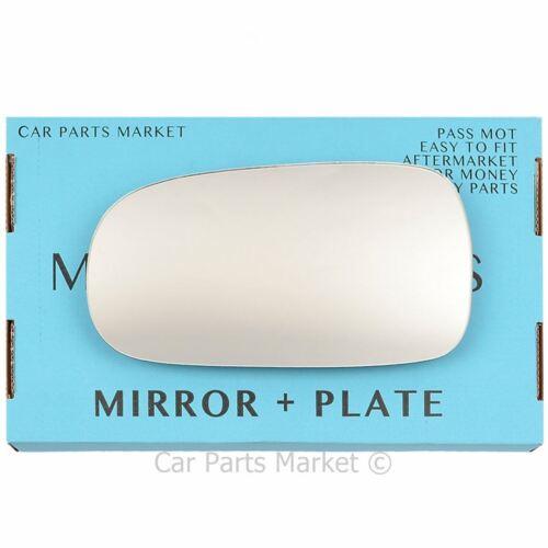 plate Left side Flat Wing door mirror glass for Smart Roadster 2003-2006