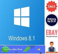 Microsoft Windows 8.1 Pro Professional 32/64bit Genuine Product Key Download lnk