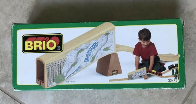 Brio Toys Wooden Railway Train Mine Tunnel Add On Ramp Track Set Accessory 33473