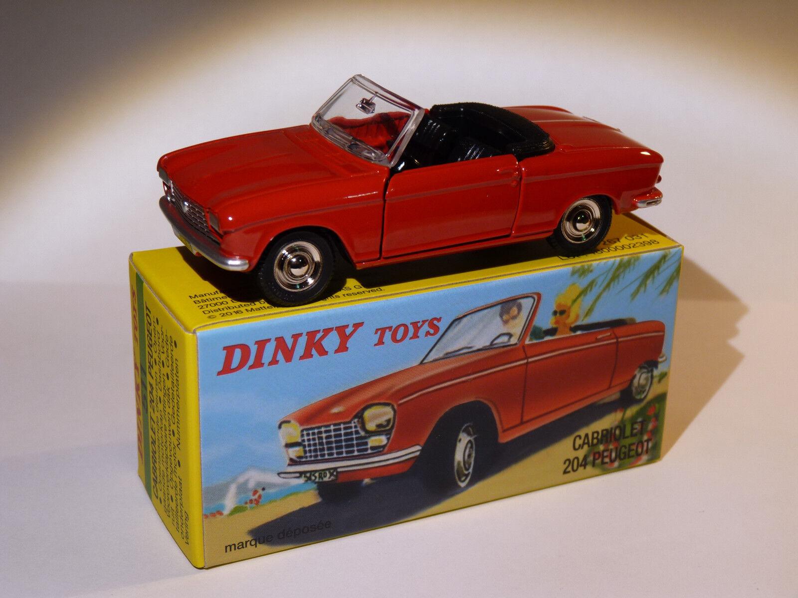 Peugeot 204 cabriolet red - ref 511 au 1 43 dinky toys atlas