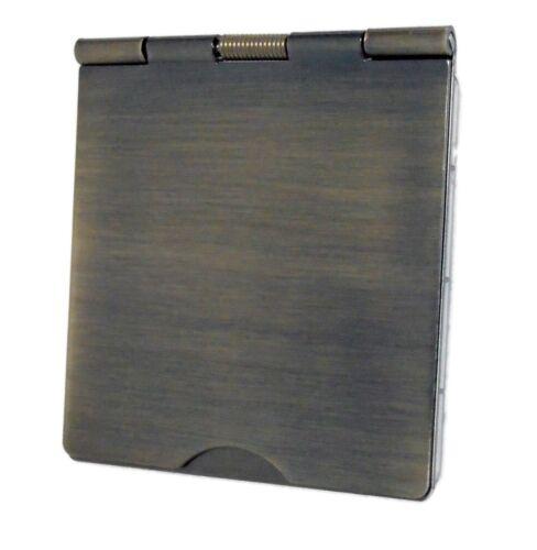 G/&H 609AB Antique Bronze 1 Gang Single Spring Loaded Floor Plug Socket 13A