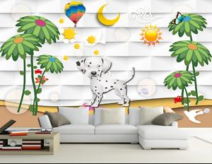 3D Spotted Dog Tree Cartoon 154 Wall Paper Wall Print Decal Wall AJ WALLPAPER CA