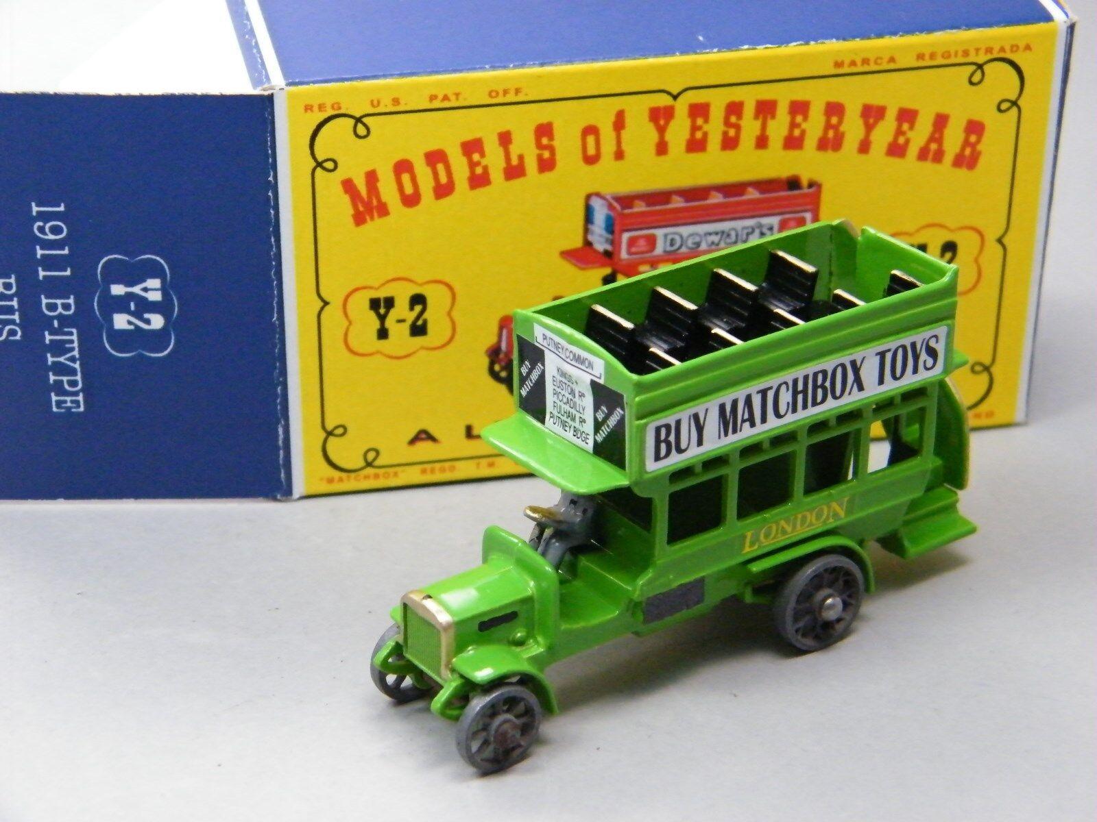 Matchbox Yesteryear Y-2 London Bus hellgreen  Buy Matchbox Toys  Clubtreffen DBox