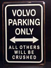 Volvo Parking Metal Sign / Vintage Garage Wall Decor (30 x 40cm)