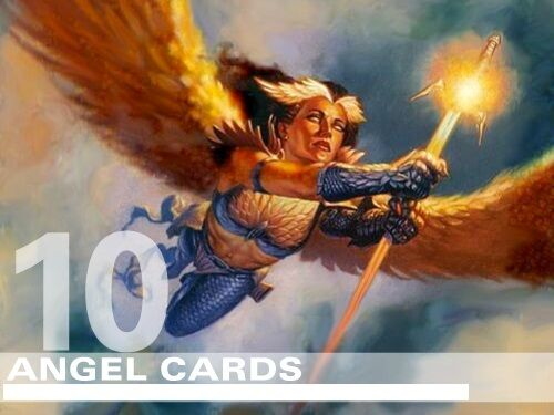 10 DIFFERENT RARE Cards Magic Lot Set Collection EDH Deck MTG Angel Lot