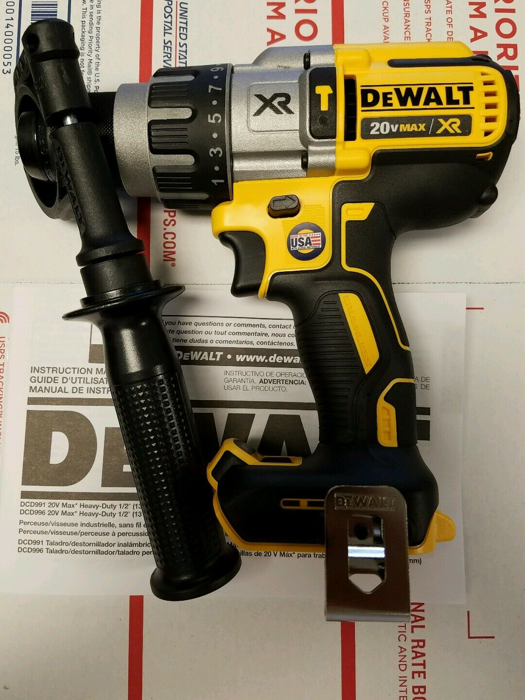 DEWALT DCD996B 20V Brushless Lithium Ion 1 2  Hammer Drill NEW Replaces DCD995