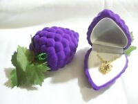Purple Grape Shape Velvet Jewelry Gift Box Will Fit Necklace Or Earring