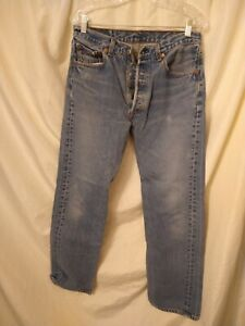 Vintage LEVI'S 501 XX Button Fly Denim Jeans Mens 34x34 USA
