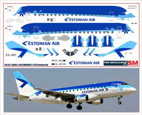 1:144 PAS-Decals #170-03 Embraer 170 Estonian Air