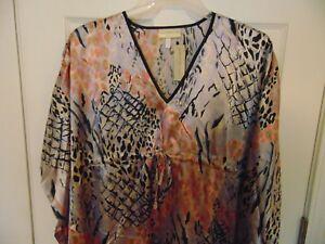 MUMU-Kaftan-Kimono-WOMENS-one-size-caftan-animal-lavender-mid-calf-T30