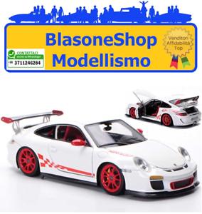 Modellino-Fronti-Art-Diecast-Porsche-911-GT3-Rs-1-43-Bianco-Rosso-Auto-Sport-Gt