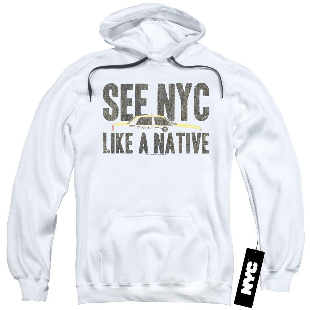 NYC Hoodie New York City Like A Native Taxi Weiß Hoody