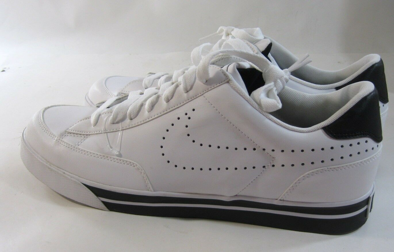 Nike Navaro Low Lifestyle Shoes White/White-Black Size 13