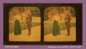 STEREO-VIEW-PANOPTIQUE-COLOR-LES-FIANCAILLES-FEMMES-COSTUMEES-R113
