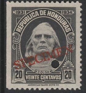 Honduras-1381-1931-Columbus-20c-File-Copy-muestra-desmontado-como-nuevos