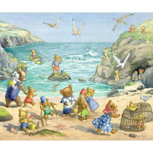 Teddy Bear Beach Molly Brett Print