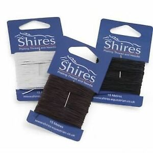1-x-15m-SHIRES-PLAITING-THREAD-amp-NEEDLE-FOR-HORSES-MANES-amp-TAILS-1095