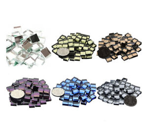 10mm Colorful Glass Square Mirrors Bulk 100 Pieces Crafts