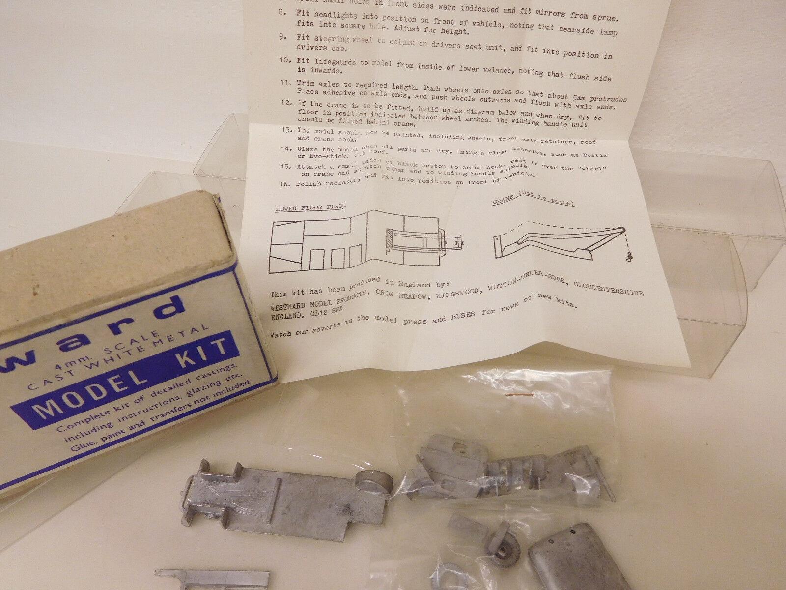MES-56830 Westward 1 87 Breakdown Tender Tender Tender Metall Bausatz sehr guter Zustand  | Bestellung willkommen  604b5c