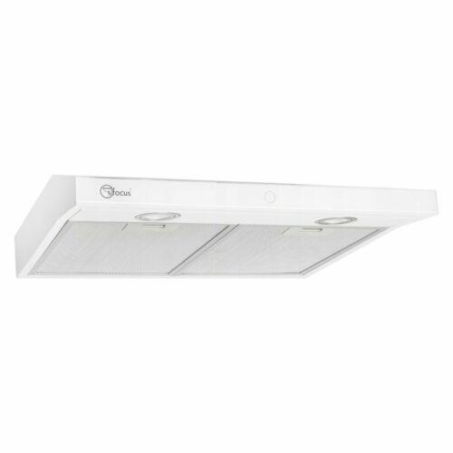 Dunstabzugshaube Abzugshaube 174m³//h Edelstahl LED 60 cm weiß