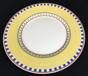 Villeroy-amp-Boch-Twist-Bea-Dinner-Plate-10-75-Germany-Yellow-And-Multicolors