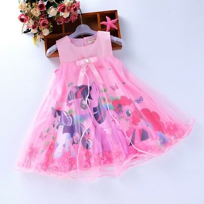 UK Stock New Stunning Rose Flower Girls Wedding Dress Party Evening dress 2-7 Y
