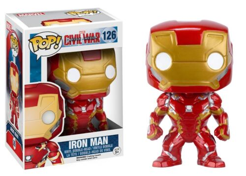 Iron Man Vinyl Bobble Head 7224 Funko Pop Marvel Captain America 3 Civil War