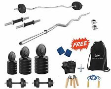 Protoner  32 Kgs + 3' Curl Rod Weight Lifting Home Gym Fitness Package