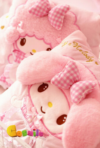 Kawaii Bowknot My Melody Kitty Little Sheep Pillow Blanket Warm Up Flannel Gift