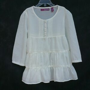 Epic-Threads-Girls-Top-Size-M-Ivory-Tiered-Peasant-Frill-Top