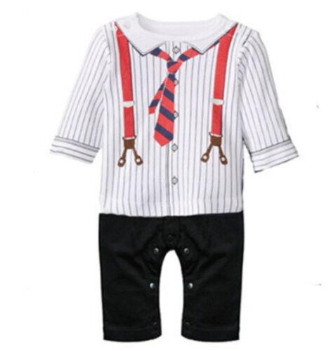 Baby Strampler Gentleman mit Krawatte ideales Geschenk Geburt Taufe  68 74 80