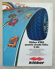 D438-Advertising Pubblicità-1975 - KLEBER V10S