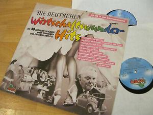 2 LP Die Deutschen Wirtschaftswunder Hits Schuricke Brühl Vinyl Dino Music 1131