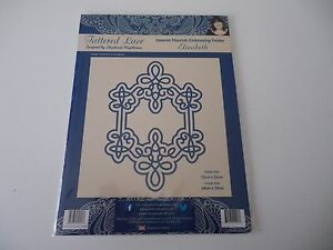 Tattered Lace Embossed /& Die Cut Peony Lace Embellishments For Crafting etc.