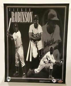 Jackie Robinson Brooklyn Dodgers 16x20 40th Anniversary Poster