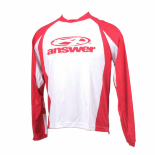 Answer Long-sleeve Men/'s MTB Jersey Bold Red//White Small