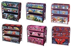 Organizador-de-almacenamiento-de-dormitorio-de-ninos-de-juguete-de-caracteres-Marco-De-Metal-Caja