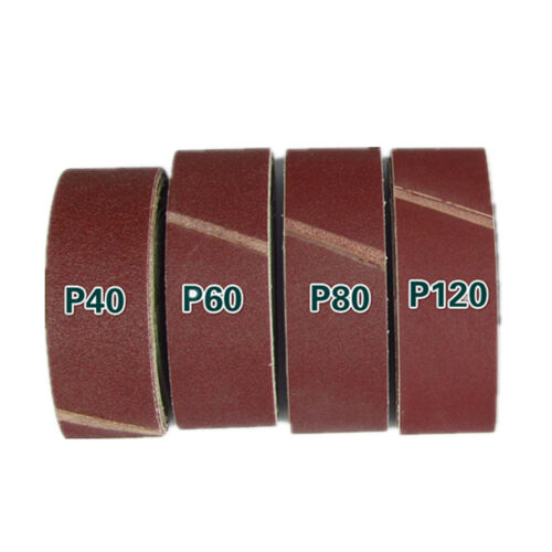 """Hot 75Mm X 533Mm Sanding Belts Mixed Grade 40 60 80 120 Grit Sander 75 533 3/"""" GL"""
