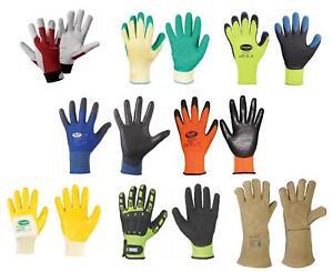 6 Garten gelb neon Arbeitshandschuhe Kinder Kinderhandschuhe Lederhandschuhe Gr