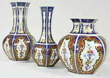SELTMANN VOHENSTRAUSS - Vase VASENTRIO Mingvase Chinesisches Motiv Prunkvase