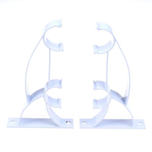 2Pcs Metal Curtain Pole Rod Bracket Pipe Duty Sturdy Holder Curtain Wire Allosn