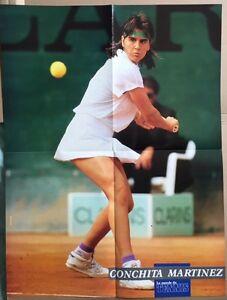 CONCHITA-MARTINEZ-Original-Vintage-French-Le-Monde-du-Tennis-Magazine-Poster