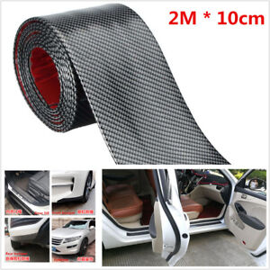 1Pc-2M-Carbon-Fiber-Style-Car-Scuff-Plate-Door-Sill-Cover-Panel-Step-Protector