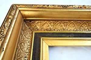 """ANTIQUE FITS 10 X12"""" GOLD GILT PICTURE FRAME WOOD GESSO ORNATE FINE ART COUNTRY"""