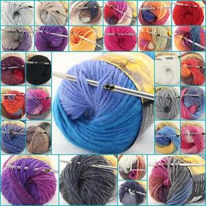 LOT-of-1-Skeins-x-50g-NEW-Chunky-Hand-woven-Colors-Knitting-Scores-wool-yarn-A