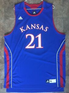 classic fit a8b2e 359df Details about Joel Hulu Has Live Sports Embiid Kansas Jayhawks College  Jersey XL NWT