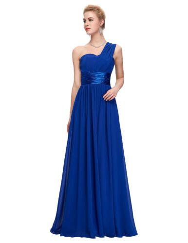 1-Shoulder Abendkleid Ballkleid Partykleid Brautjungfernkleid Langes Kleid BC329
