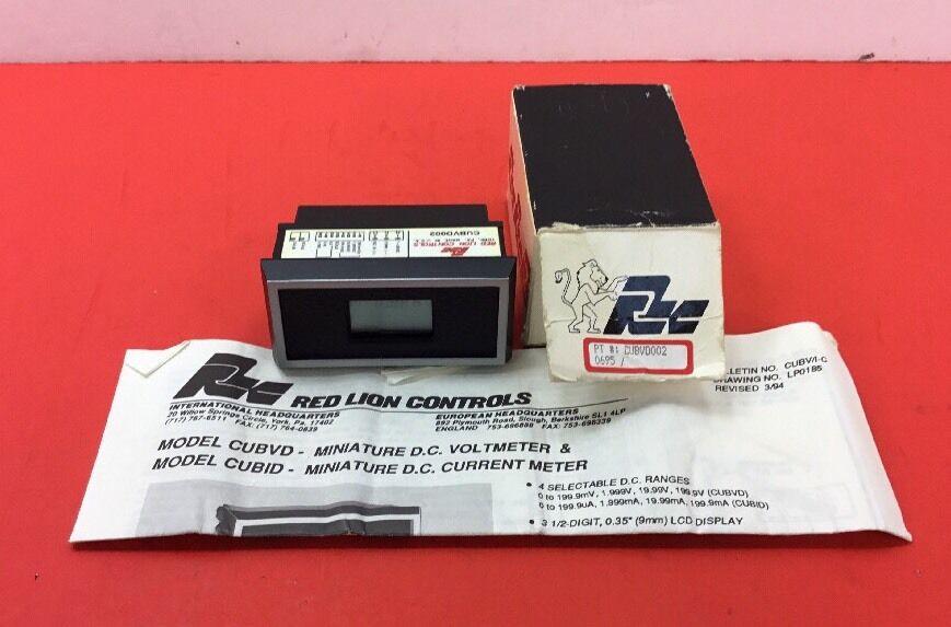 RED LION CONTROLS CUBVD002 MINIATURE DC VOLTMETER     5E