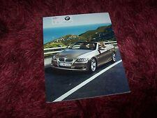 Catalogue / Brochure BMW Serie 3 / 3 Series Cabriolet 2007 //